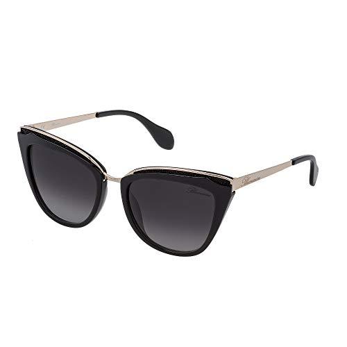 Blumarine SBM766S 0700 55-19-135 - Gafas de sol para mujer, color negro brillante