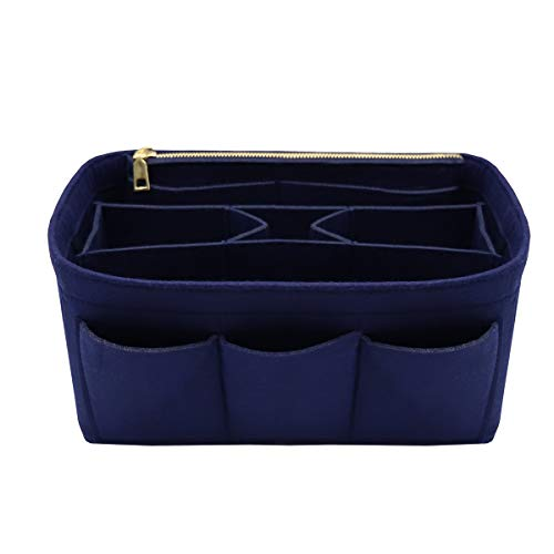 LEXSION Aufbewahrungstasche aus Filz für die Handtasche, passend für Speedy Neverfull, Blau (blau), Medium