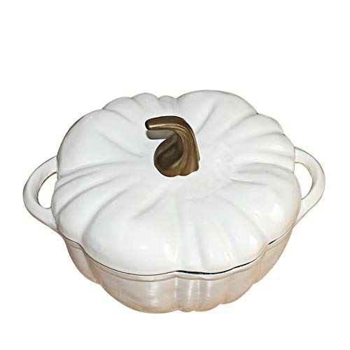 z62001541 Four Hollandais,Cocotte en Fonte ÉMaillée,avec Couvercle-Casserole de Cuisine,Tous Feux Dont Induction,Pot à Soupe en Fonte