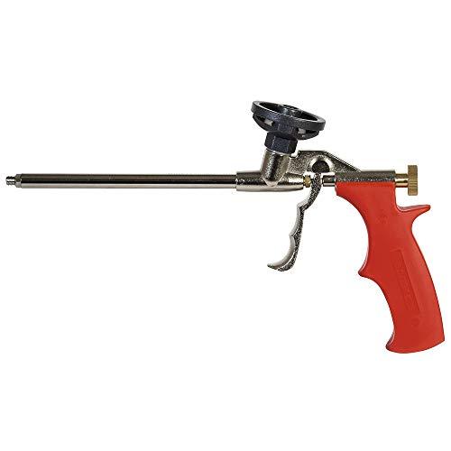 fischer Metallpistole PUP M3, robuste Schaumpistole für PU-Schäume, Bauschaumpistole zum effizienten Verarbeiten von Pistolenschäumen, langlebig aus Metall, rot