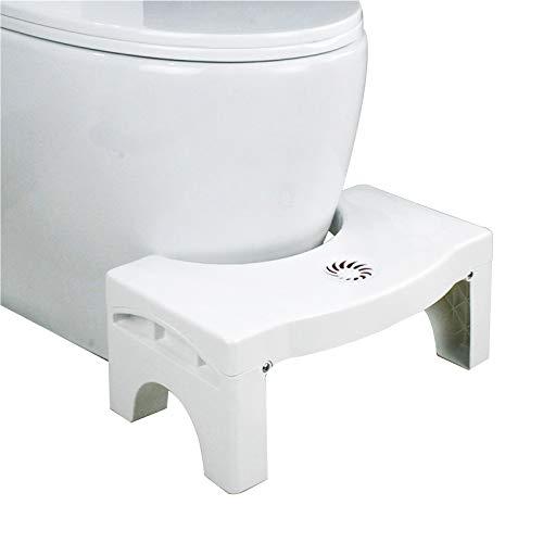Baitaihem Folding Toilet Stool Bathroom Non-Slip Toilet Footstool Convenient and Compact Squatting Stool