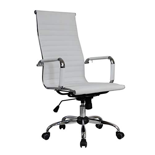 NXKang Computer Chair, Nordic Wind Home Office Chair Leather Desk Gaming Chair With Massage Function Adjust Seat Height (White) Categories TV