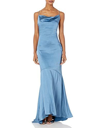 Elliatt Women's Apparel Women's Aisle Sleeveless Cowl Neck Long Gown Dress