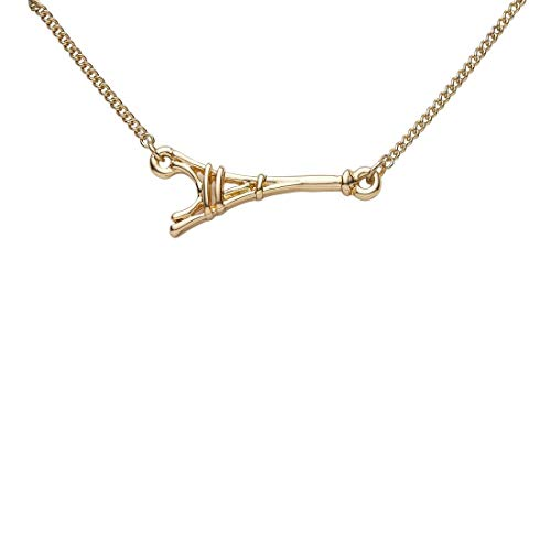Draeger Paris – Pulsera de fantasía de metal dorado con la Torre Eiffel – Sin níquel – 20 cm – Ideal para un regalo personalizado y diseño