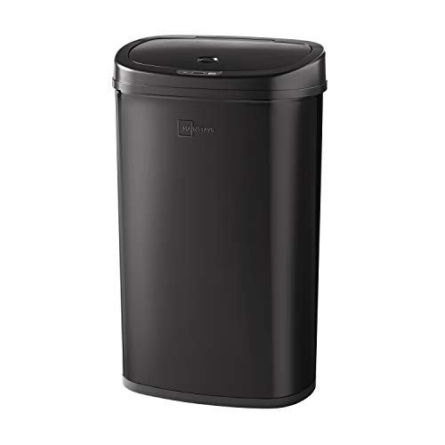 Black Stainless Steel Motion Sensor Trash Can Cleanliness and Hygiene
