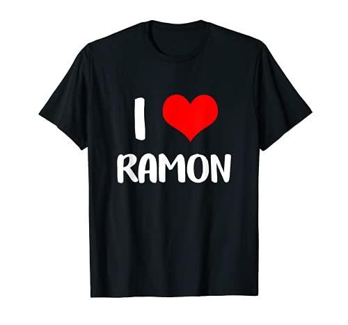 Me encanta RAMON San Valentín lo siento damas chicos corazón pertenece 3 Camiseta