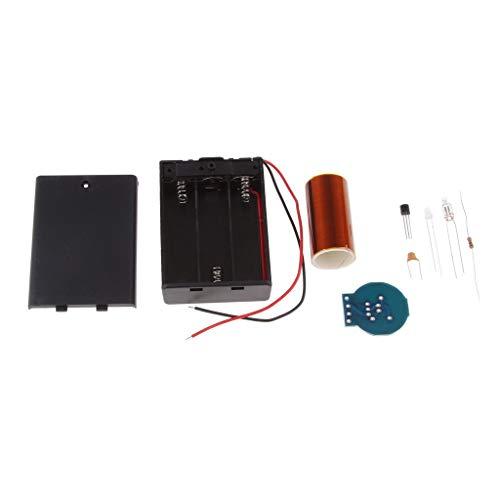 perfk DIY Mini Tesla Tesla Coil Plasma Kabellose Übertragung Wissenschaft Experiment Kit für Anfänger, Studenten