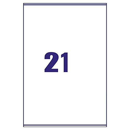 A4 Dirección de Correo hojas de etiquetas Impresora de etiquetas por hoja 21 100 Hojas 1 Box