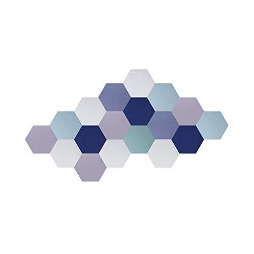 Z-XIYIN 18 Paquete De Panel De Absorción Acústica, Paneles De Clase De Oficina Paneles Acústicos Creatividad Hexagonal Decorativo Pegatinas De Pared De Fieltro(Color:#5)