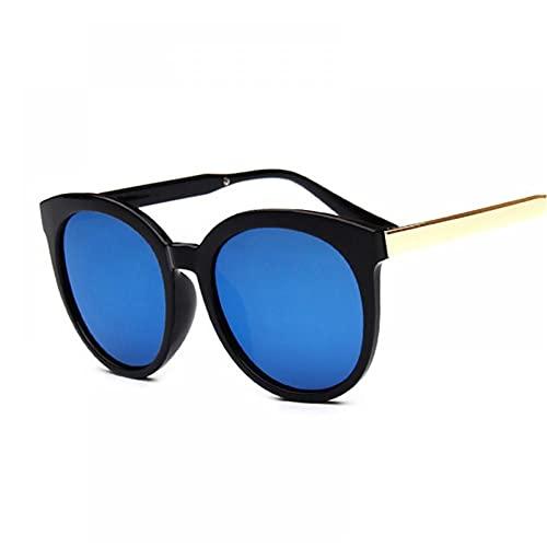 FRGH Gafas De Sol De Ojo De Gato con Montura Grande Vintage, Gafas De Sol Retro para Mujer, Revestimiento De Espejo Colorido para Mujer