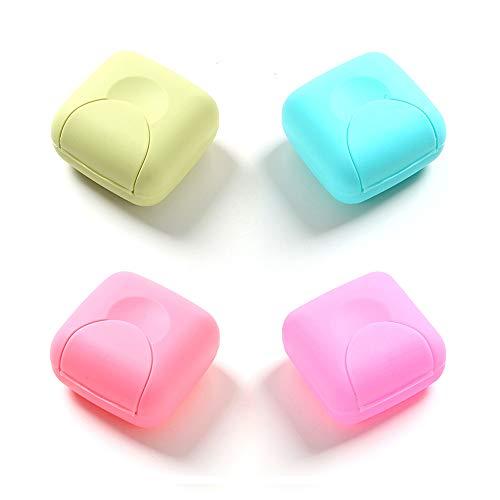 RETON 4 Stück Tragbare Candy Farbe Seife Container Fall Box Halter Veranstalter für Haus, Bad, Wandern, Reisen, Camping und andere Outdoor-Aktivitäte (4 Klein)