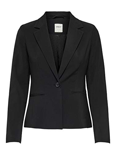 Only Onlselma-Astrid L/s Fitted Blazer CC TLR, Negro, 36 para Mujer
