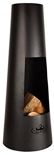 Esschert Design de Ff214 Tall Brasero Rond Noir