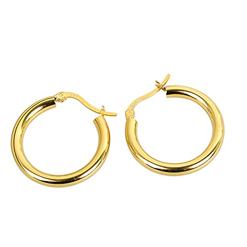 MHXQD Geometric Hollow Silver Hoops Earrings for Women Hypoallergenic Hoop Sleeper Earrings Personalized Birthday Valentines Gift for Women Girls,Gold