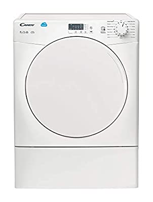 Candy CSV9LF Free Standing Vented Tumble Dryer, Sensor Dry, 9 kg Load, White