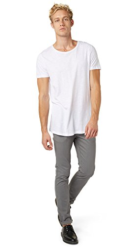 TOM TAILOR DENIM Herren solid skinny chino with belt Hose, Grau (somber grey 2801), W30/L34 (Herstellergröße: 30)