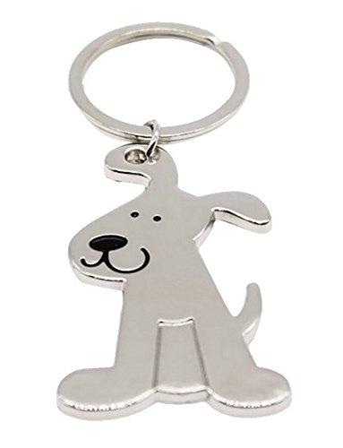 Schlüsselanhänger,-Schmuckstück tasche, Mignon Hunde Stahl silberfarben.