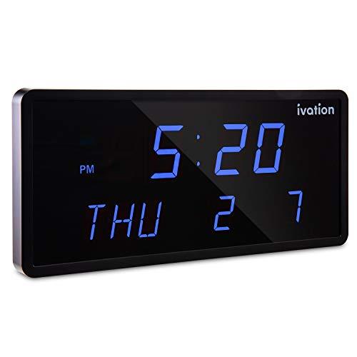 The Ivation Oversized Digital Calendar Clock