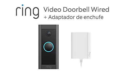 Te presentamos el Ring Video Doorbell Wired + Adaptador de enchufe de...