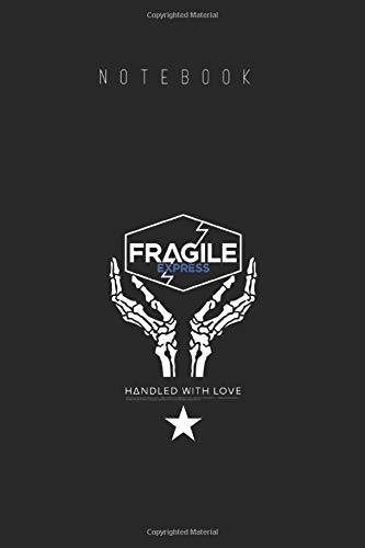 Notebook: Death Stranding Fragile Express Cover Arts Designed for Kids and Women and Men Wide Ruled Lined Journal Designed Black