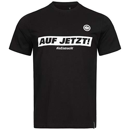 Eintracht Frankfurt T-Shirt - Auf Jetzt! - schwarz Herren Shirt, div. Größen SGE - Plus Lesezeichen Wir lieben Frankfurt Größe L