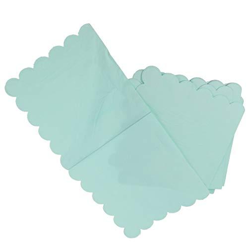 Pingrog effen servetten papieren servetten strepen tafeldecoratie bestek set 20 stuks blauw unicaat 33 x 33 cm thuis elegant romantische hoogwaardige servetten doek 33X33Cm groen