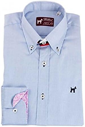 Williot Camisa Oxford Celeste Hombre - Color - Celeste, Talla ...