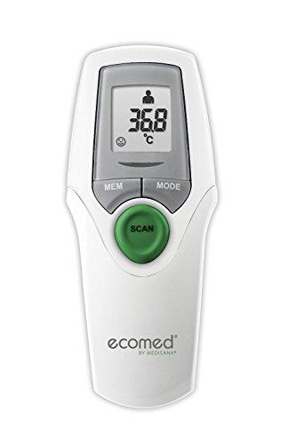 Ecomed TM-65E termómetro clínico digital infrarrojo para bebés, niños y adultos, termómetro de frente, temperatura ambiente, temperatura del líquido