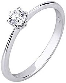 404af33c3907ad Gioielli di Valenza Solitario Griffe a Sei Punte in Oro Bianco 18k con  Diamante ct.