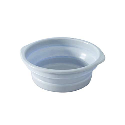 Hadristrasek Tina Plegable Tina Plegable para Platos Plegable al Aire Libre Lavabo Cubo Plegable contenedor Plegable portátil Cuenca Cuenca Silicona Wash-Accesorios de baño Rosa S (Color : Blue M)