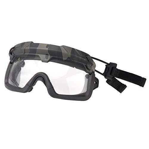 ATAIRSOFT Táctico Militar Gafas de Paintball Anti Niebla Gafas Transparentes Senderismo Gafas Protección para los Ojos para la Caza al Aire Libre de Airsoft Paintball Multicam Negro
