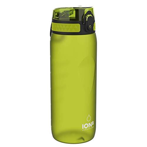 Ion8 Borraccia Bici Senza Perdite, Senza BPA, 750ml, Verde