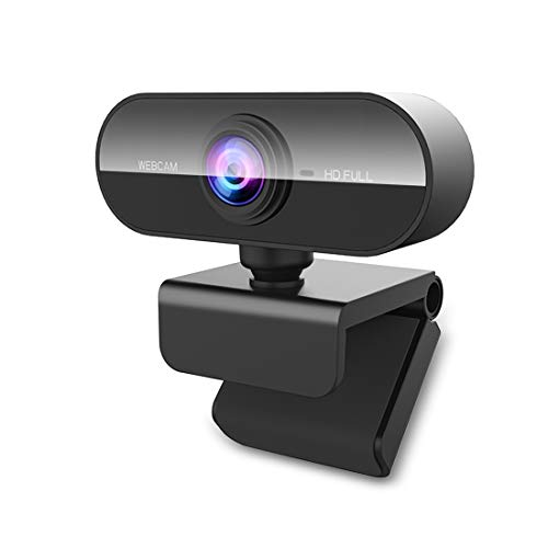 NIYPS Webcam PC con Microfono, HD 1080P Webcam para Portatil/Ordenador/Mac USB 2.0 Web Camera PC para Videollamadas, Estudios, Conferencias, Grabación, Juegos con Clip Giratorio