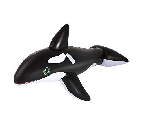 Mediawave Store Cavalcabile a Forma di Orca Gigante 41009 Gonfiabile 203 x 102 cm
