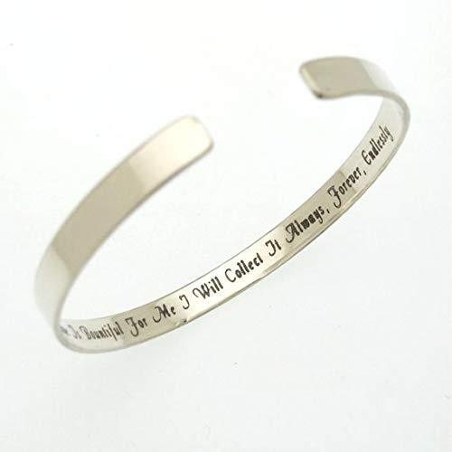 Mens Gift for him Hidden Message Cuff Bracelet in Sterling Silver Hand Stamped Inscription Your Special Message Personalized Bracelet