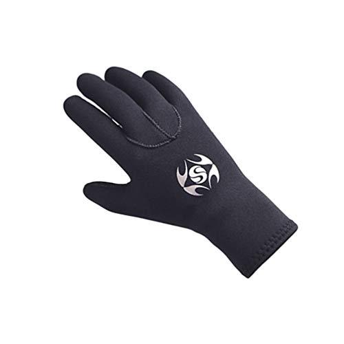 YuanDian 3mm Neoprenanzug Handschuhe Erwachsene Elastisch Warm Scubapro Tauchen Rutschfest Kratzfest Snorkel Handschuhe Für Surf Kayak Wassersport Neopren Handschuhe Schwarz XL