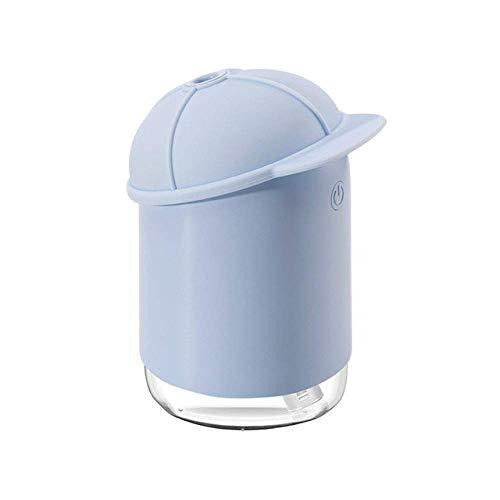 YNHNI Humidificador ultrasónico de aire 7 colores calmante luz nocturna USB Aroma difusor de aceite esencial silencioso humedece humidificador (color: negro)