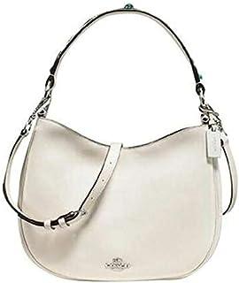 Coach Women's Hobo West Nomad Shoulder Handbag, Leather - Chalk
