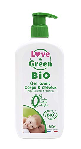 Gel Lavant Corps & Cheveux certifié Bio Sans parfum sans sulfate - 500ml