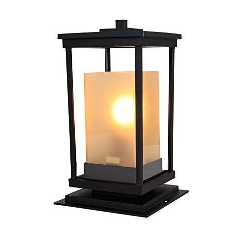 ZYLE Lámpara de Pared de la lámpara del Paisaje Exterior Columna Cabeza de la lámpara a Prueba de Agua la luz del jardín Garden Villa Poste de la lámpara