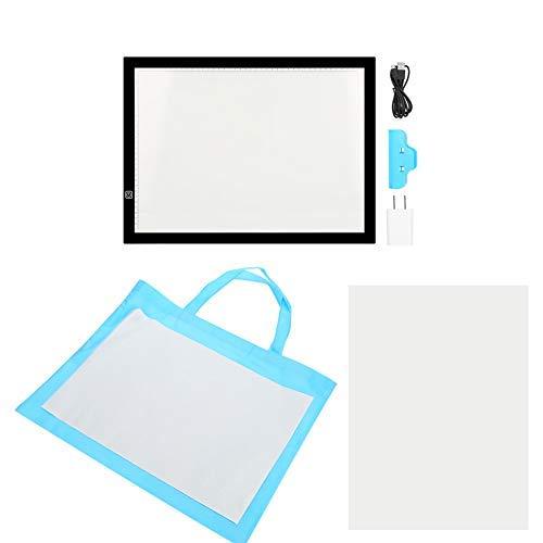 Pantalla Luz Dibujo A3 LED Mesa de Luz Caja de Luz con Tres Modos de Brillo Ajustable Digital Tablero de Rastreo para Bocetos, Diseño, Dibujo, Artistas Negro 47 x 34.5cm