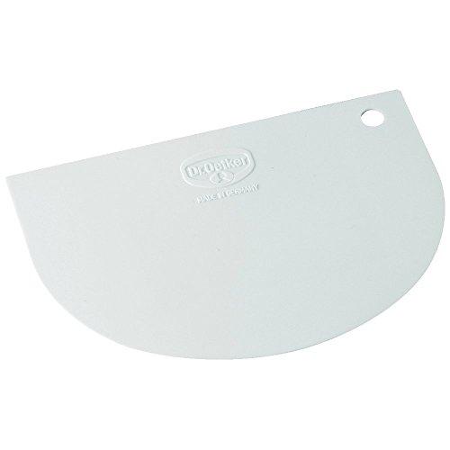Dr. Oetker 1635 Teigschaber Classic, aus flexiblem Kunststoff, weiß (5 Stück)