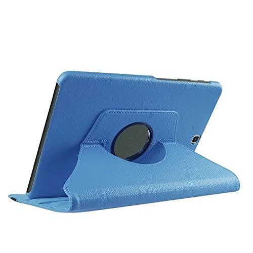 LIUCHEN Funda de tableta360 Funda para Tableta con Soporte Giratorio para Samsung Galaxy Tab S2 9.7 Pulgadas Cubierta T810 T813 T815 T819 SM-T810 T813 T815 Cuero, Azul Claro