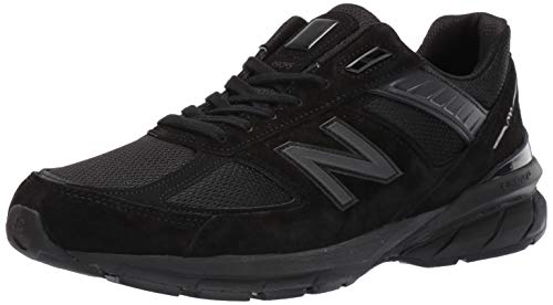 New Balance Men's 990v5 Made in The USA Sneaker, Black/Black, 10.5 W US