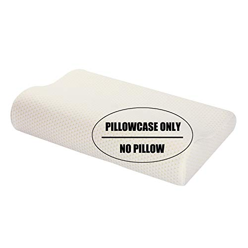 "Ureverbasic Pillow Case/Pillow Cover for Memory Foam Contour Pillow,100% Soft Rayon w/Hided Zipper Closure Machine Washable, Fit 15""x23"" Pillow Queen"
