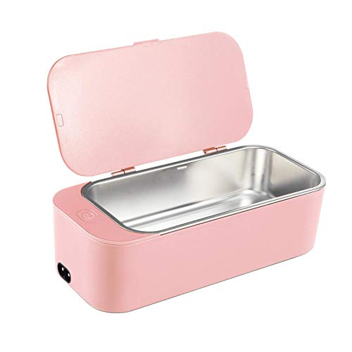 PLMO Cleaning machine cleaner 20W 42kHz jewelry glasses makeup brush cleaner 450ml denture cleaning machine pink