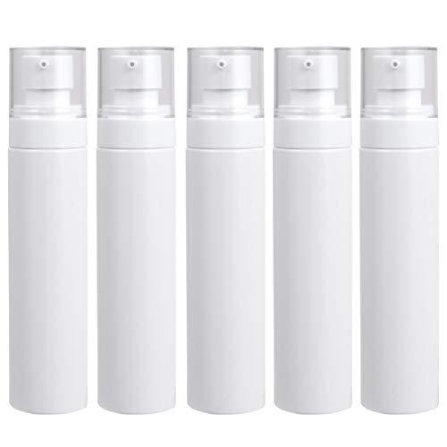 EXCEART 5Pcs Tragbare Lotion Pumpflaschen 100Ml Flüssigcreme Pressspender Make-Up Lotion Gläser Reise Körperöl Shampoo Seifenflaschen
