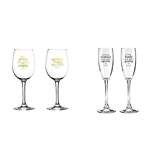 Mr. Wonderful Set de 2 Copas de Vino para Novios: Nos quedan...