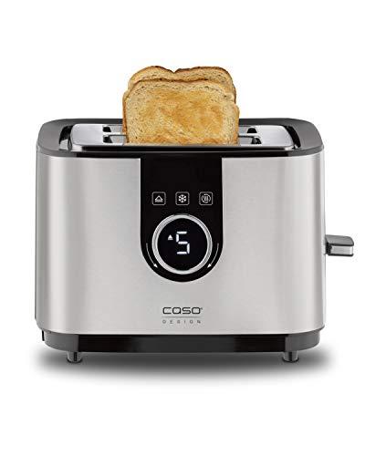 Caso Selection T 2 - Design Toaster für 2 Scheiben Brot, Edelstahl, 2769