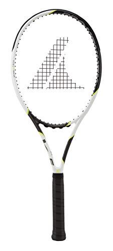 PROKENNEX Ki 5 300, Racchetta da Tennis Unisex Adulto, Bianco, Carbonio, Giallo, L2